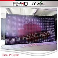 P9 3x6m celebrating holiday party dj equipment vision shower light cloth/2112pcs/PC controller/full color