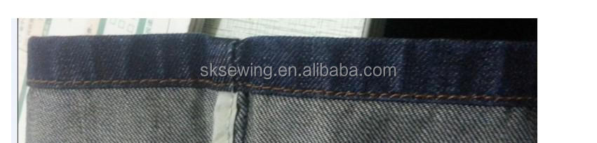 computer hemming sewing machine with thread trimmer for jeans