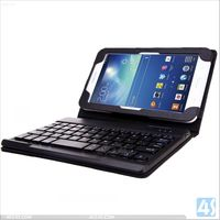 Wireless Bluetooth Keyboard With Leather Case for Android Tablet PC, for Samsung Galaxy Tab 3 Lite T110 P-SAMT110CASE005
