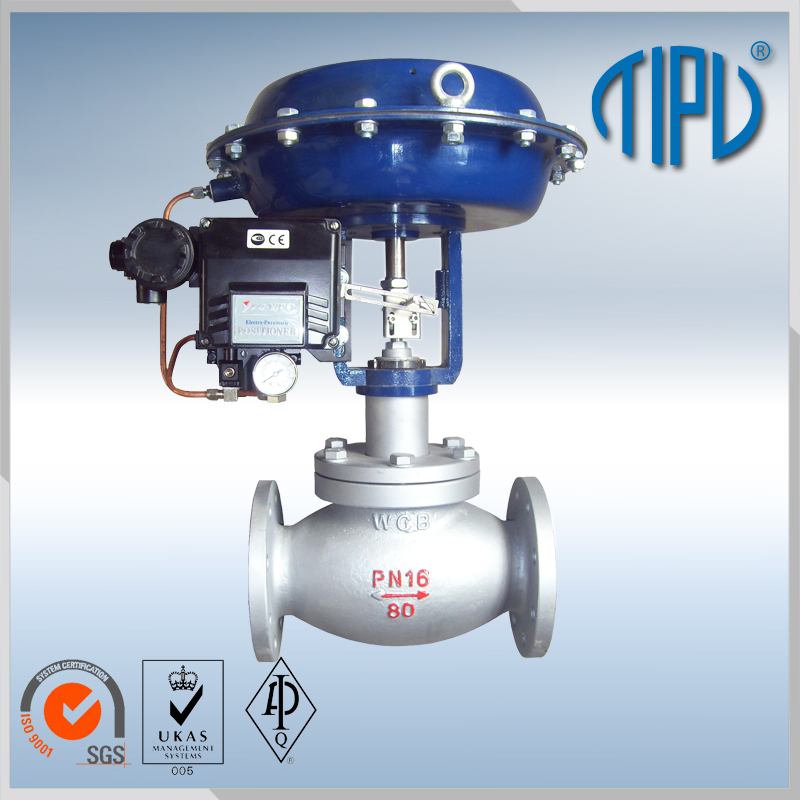 4-20ma pneumatic water flow control valve
