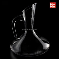 Hand Blown Elegant High Clear Crystal Wine Glass Decanter Dinner Set