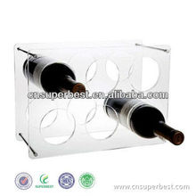 Acrylic wine bottle rack hiển thị