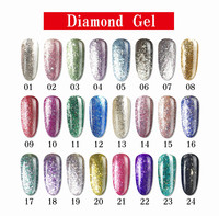 hot sale 15ml soak off uv/led color uv gel polish functional gel polish diamond cat's eyes nail uv gel global