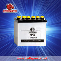 N32 Korea small dry charged car battery 12v 32ah