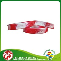 Hot sale high quality silicone charm wristband with deboss logo design