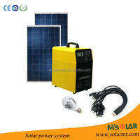 Portable Solar Power Bank System / Generator with 110 volt / 220 volt, 5 volt USB, 12 volt DC Output