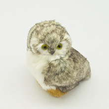 fake fur animals owl for gift 12cm