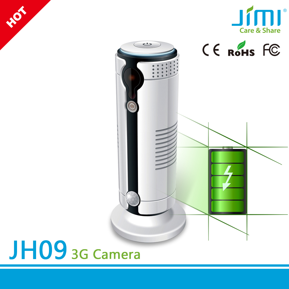 Smart Video Surveillance AC + Battery Powered Sim Card 3G IP Camera with Free Cloud Storage