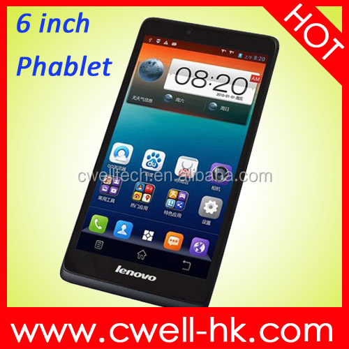 Original Lenovo A889 Android 4.2 MTK6582 Quad Core 6 Inch Mobile Phone