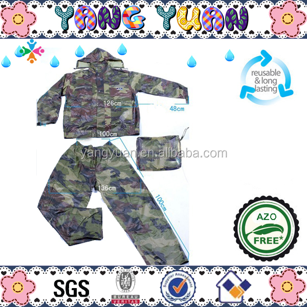 Fashionable Camouflage rainsuits outdoor