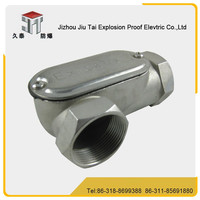 Good quality bending of BCH-E stainless steel material explosion proof conduit outlet body/ threading box/ pull box
