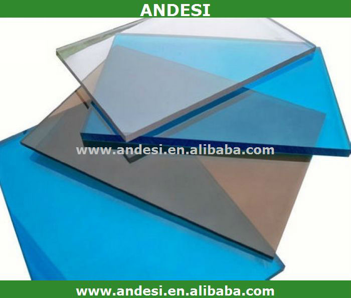 polycarbonate solar panel solid sheet/PC roofing sheets