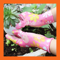 Ultra Light PU Color Gloves/Hand Protection Nylon Machine Knitted Palm Covered Gloves for Garden Work