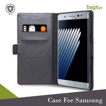 Real Leather Flip Wallet Phone Case For Samsung Galaxy Note 7