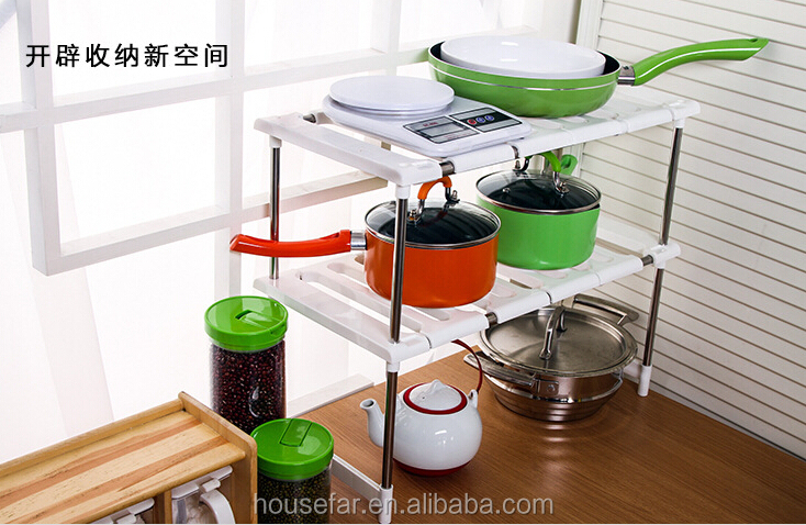 adjustable kitchen plastic storage rack