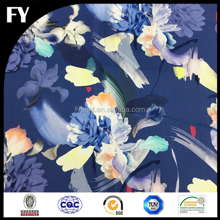 2018 summer high quality digital printed cotton voile printed for scarf
