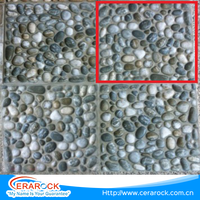 Blue and white cobble style factory price ceramic floor tiles 300x300mm with top quality for garden decoration