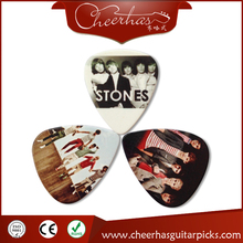 Celluloid material different band logos guitar sheet plectrums/picks