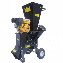 Gasoline Portable tree branch chipper wood pulverizer machine wood chip crusher