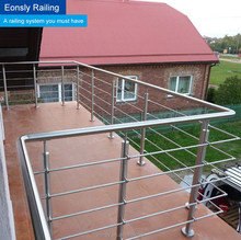 High quality best price AISI 304 and 316 polish or satin surface balcony stainless steel railing design