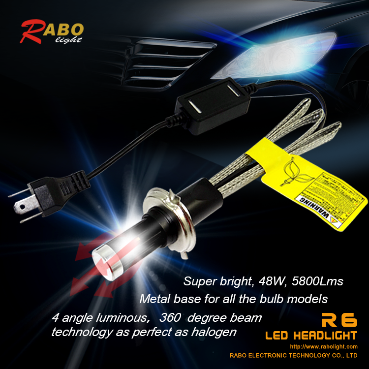 guangzhou auto accessories R6 car headlight led h4 motorcycle headlight