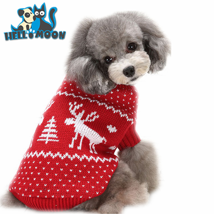 Wholesale Knit Patterns Pet Product 6 Size Pet Christmas Sweaters ...
