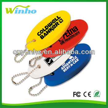 Imprint stress ball Floating Oval Key Tag