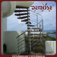 prefabricated metal outdoor stairs with wood tread