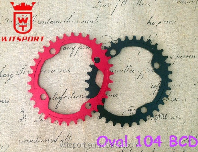 Oval chainring BCD104mm 32T 34T 36T 38T for cycling chain ring MTB bicycle crankset plato de la bicicleta ovalado