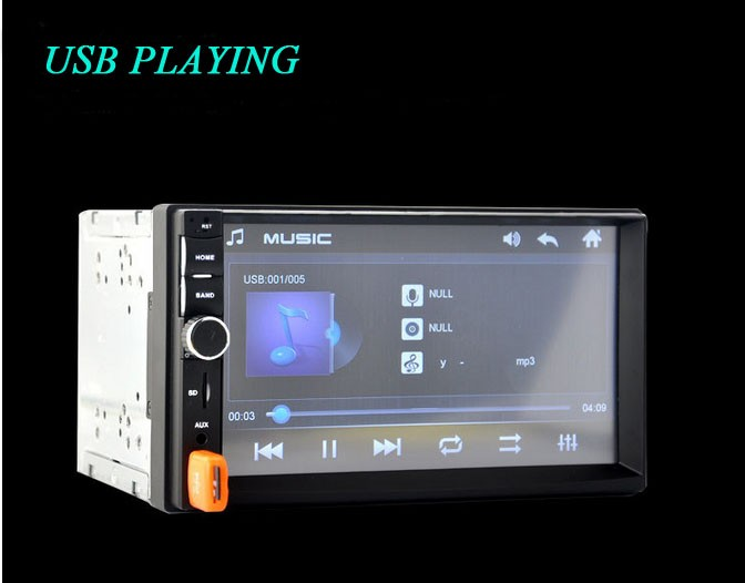 Universal 2 Din Car DVD Double Din Car Video Player Touch Screen Panel Car Audio Player 7010B Support FM/MP5/USB/AUX/Bluetooth