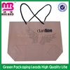 fashional design customize logo kraft paper shopping bag manufacturer