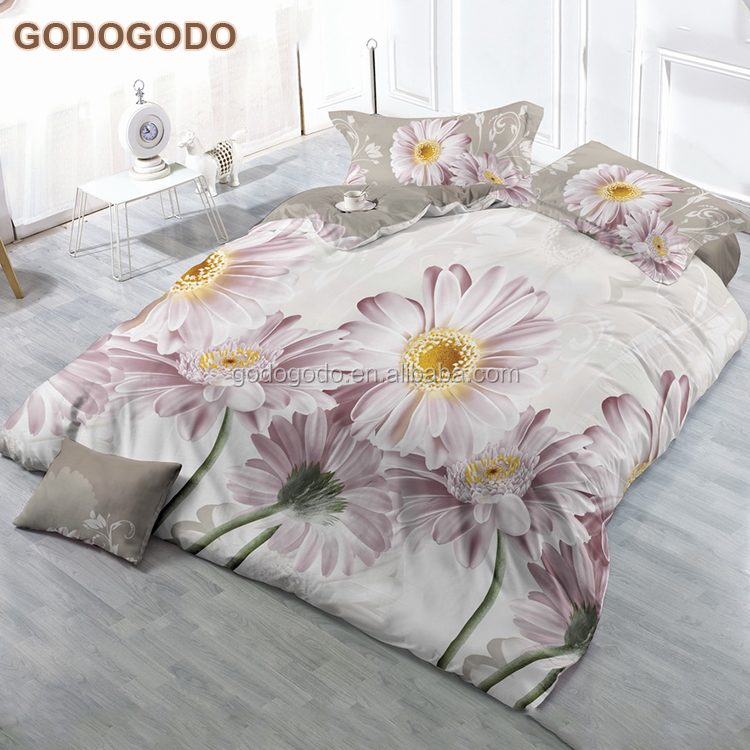 Home Sense Hypoallergenic 8Pcs Wedding Bedding Red Rose Custom Polyester Bed Sheet Bedding Set 3D
