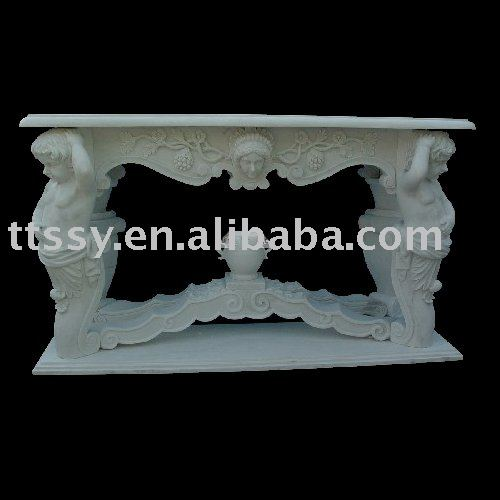 Stone statued table set