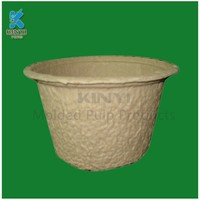Hot pressing molded pulp biodegradable flower pots, plant seeding pot