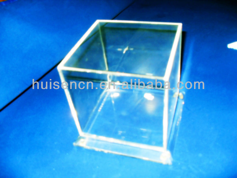 Crystal acrylic Jewelry Boutique gift display cube,show box