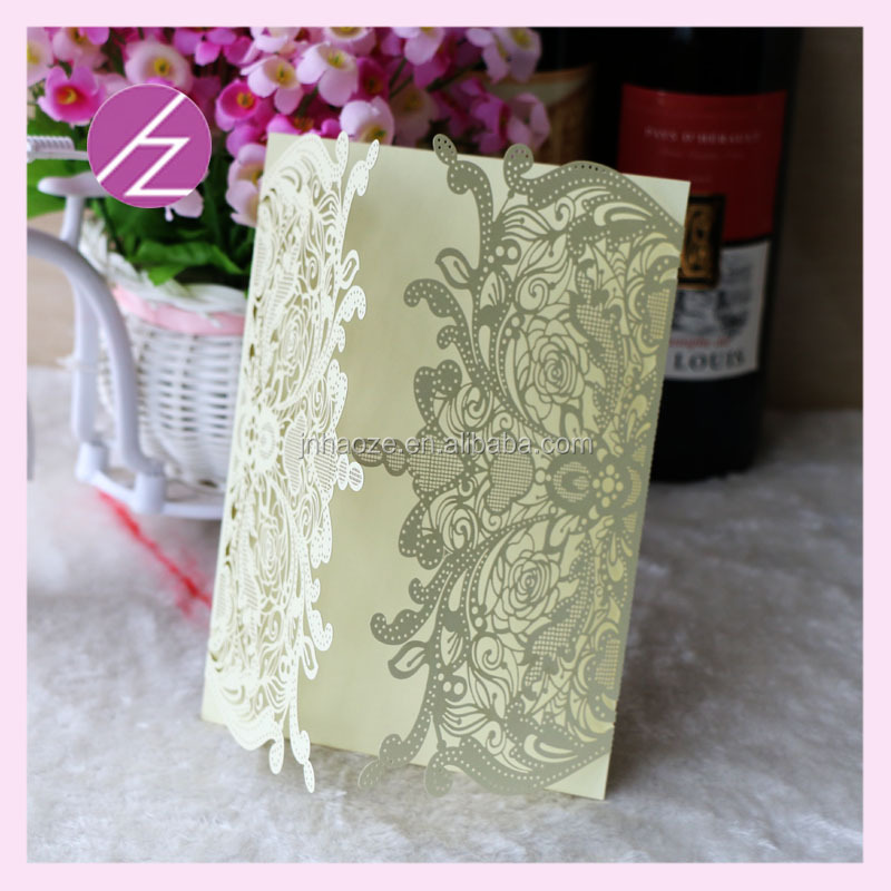 best selling Wedding Invitation Card party favor Laser Cut Card luxury and unique Card QJ-64
