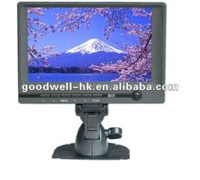 "VGA Input 16:9 DC 12V Input 7"" touch screen car lcd monitor"