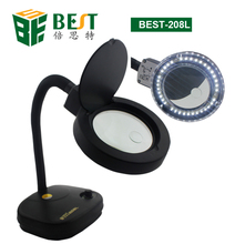 BST magnifying glass with led light