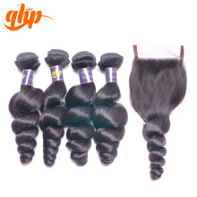 Ali queen hair products 100% human hair brazilian hair with closure