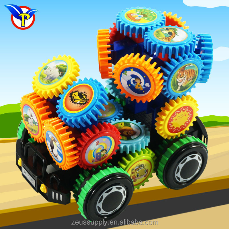 2017 popular plastic funny electric RC gear building blocks toy 9508