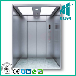 Hairline stainless steel elevator cabin