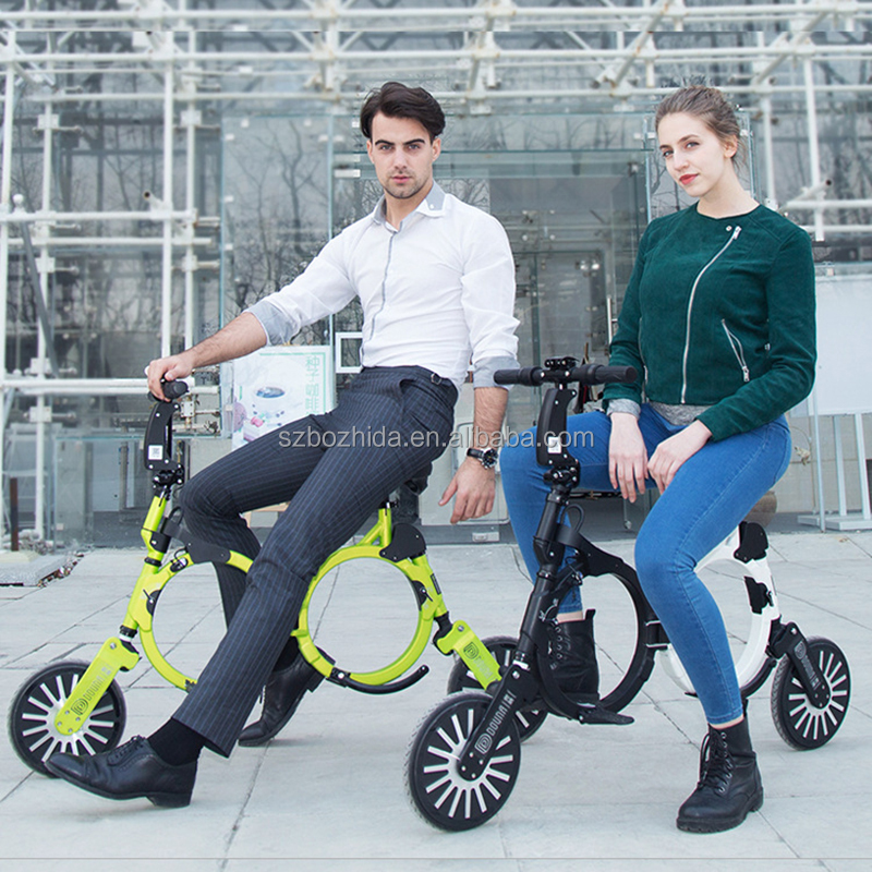 Shenzhen City New Fashion Only 9.8KG 240W Brushless Motor Folding Electric Bike from China Portable electric Bycicle