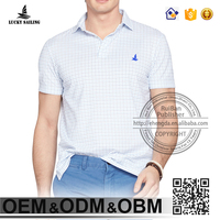 Fashion embroidered custom polo shirt camisa masculina plaid golf club polo