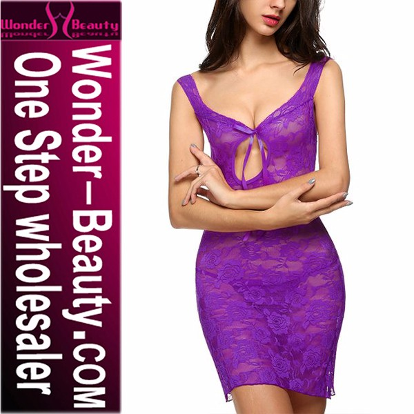 Purple Sexy Hot Babydoll Lingerie Sexy Sex Kiss