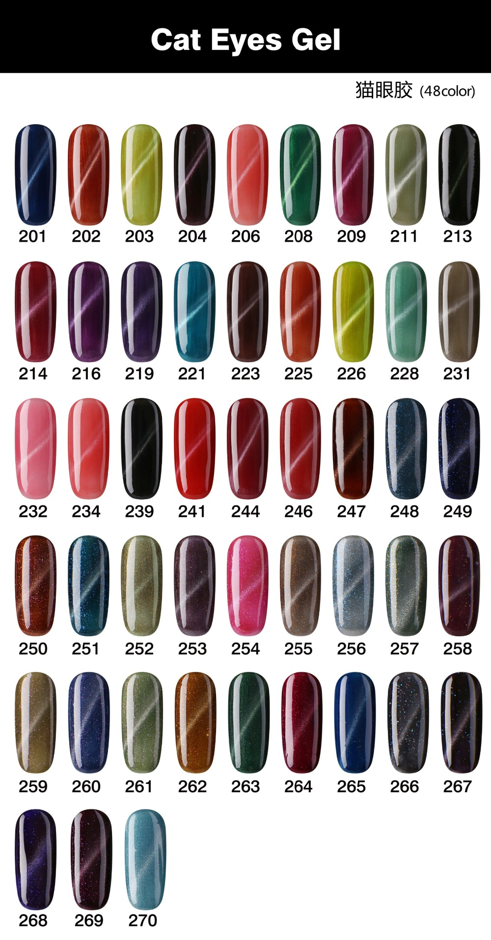 Hot sale on marking elegance Color Uv Gel Nail Cat Eyes Gel