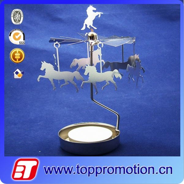 fashion floor standing metal horse candle holder
