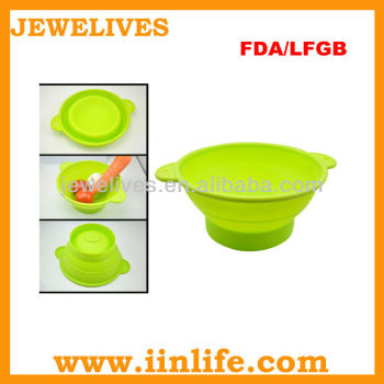 LFGB&FDA SILICONE COLLAPSIBLE BOWL