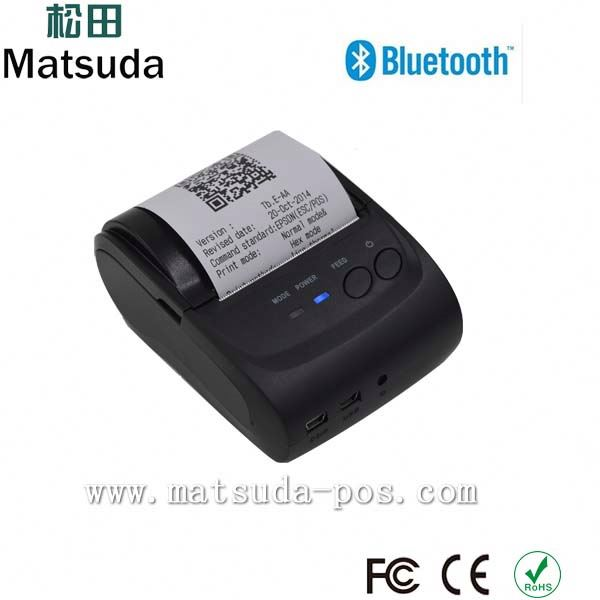 58MM Mini Dot Matrix Bill Partable Mobile Bluetooth Printer