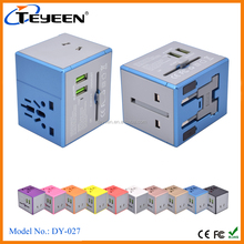 2017 New Travel Adapter with dual USB ports
