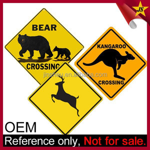 Wholesale custom metal animal warning crossing sign